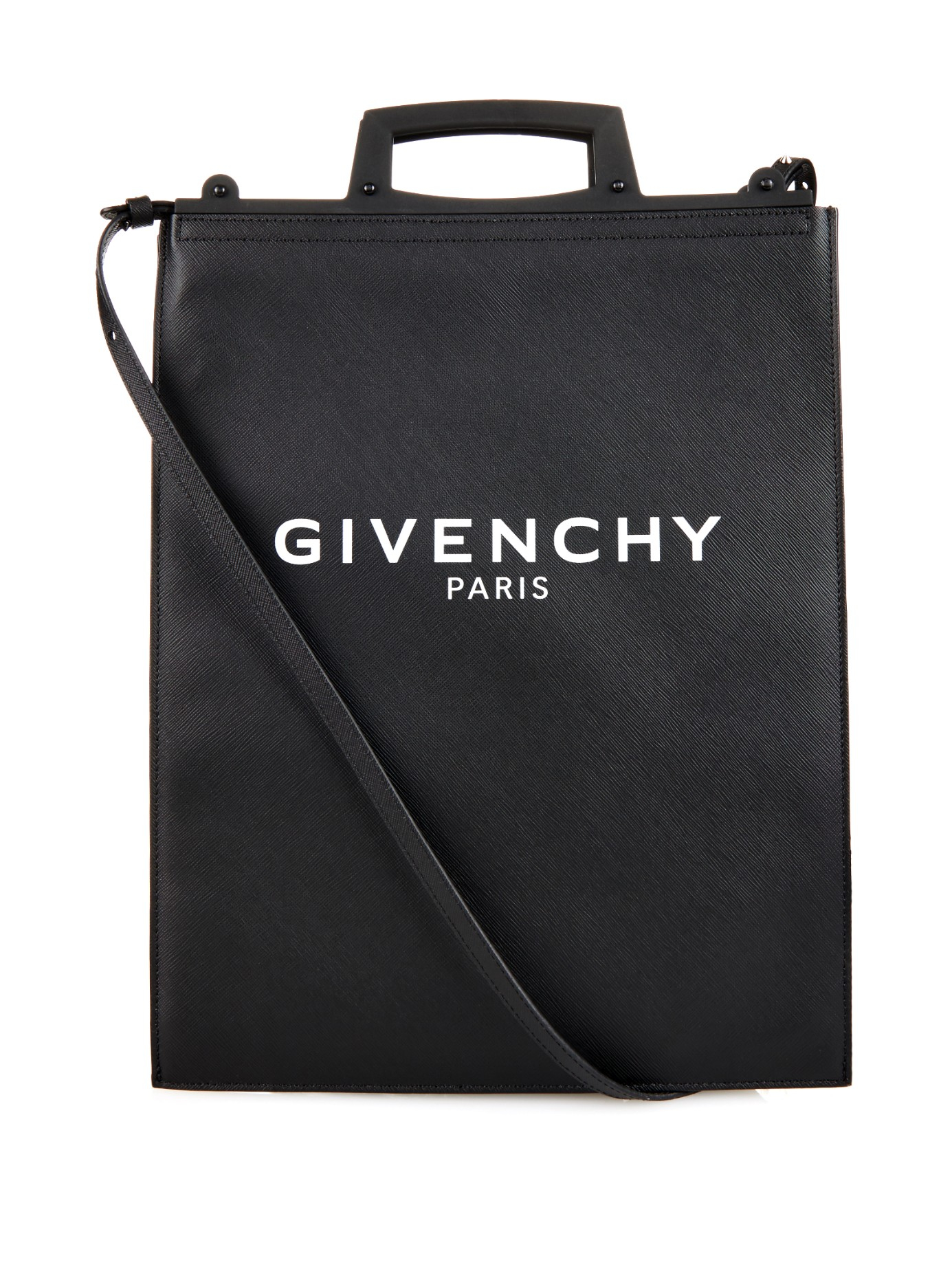Givenchy Rave Medium Logo-print Coated-canvas Tote in Black | Lyst
