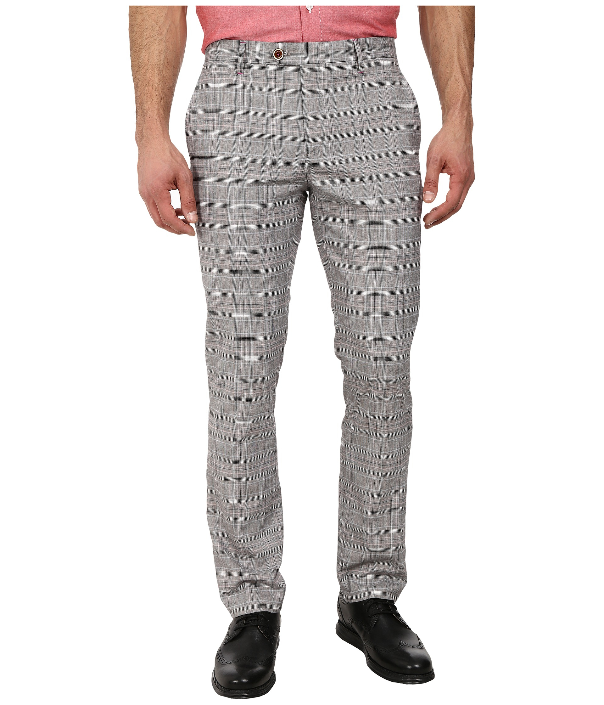 Ted Baker Mens Havtro Check Trousers Natural - Pants