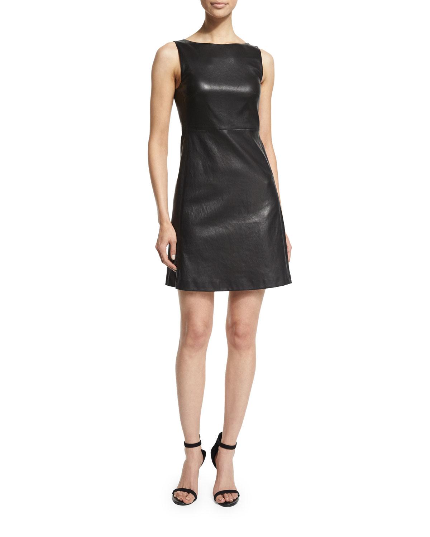 Black Stretch A-Line Dress