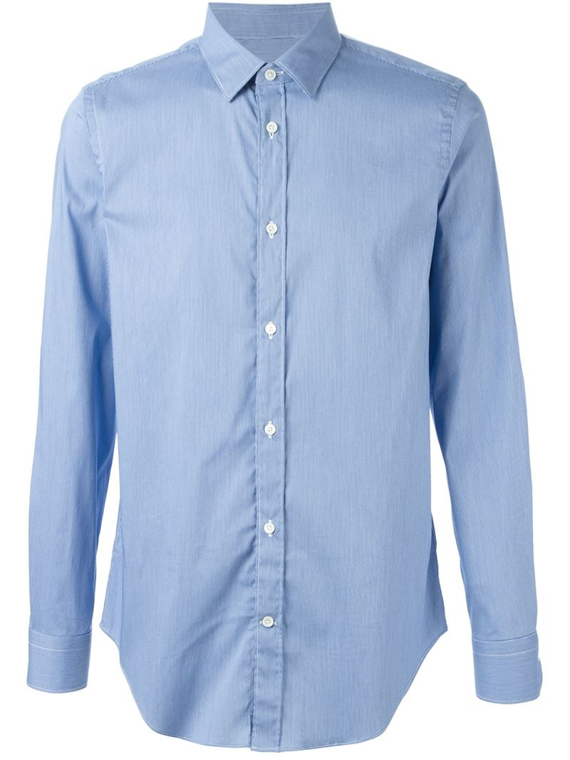 Lyst Mauro Grifoni Classic Button Down Shirt In Blue For Men