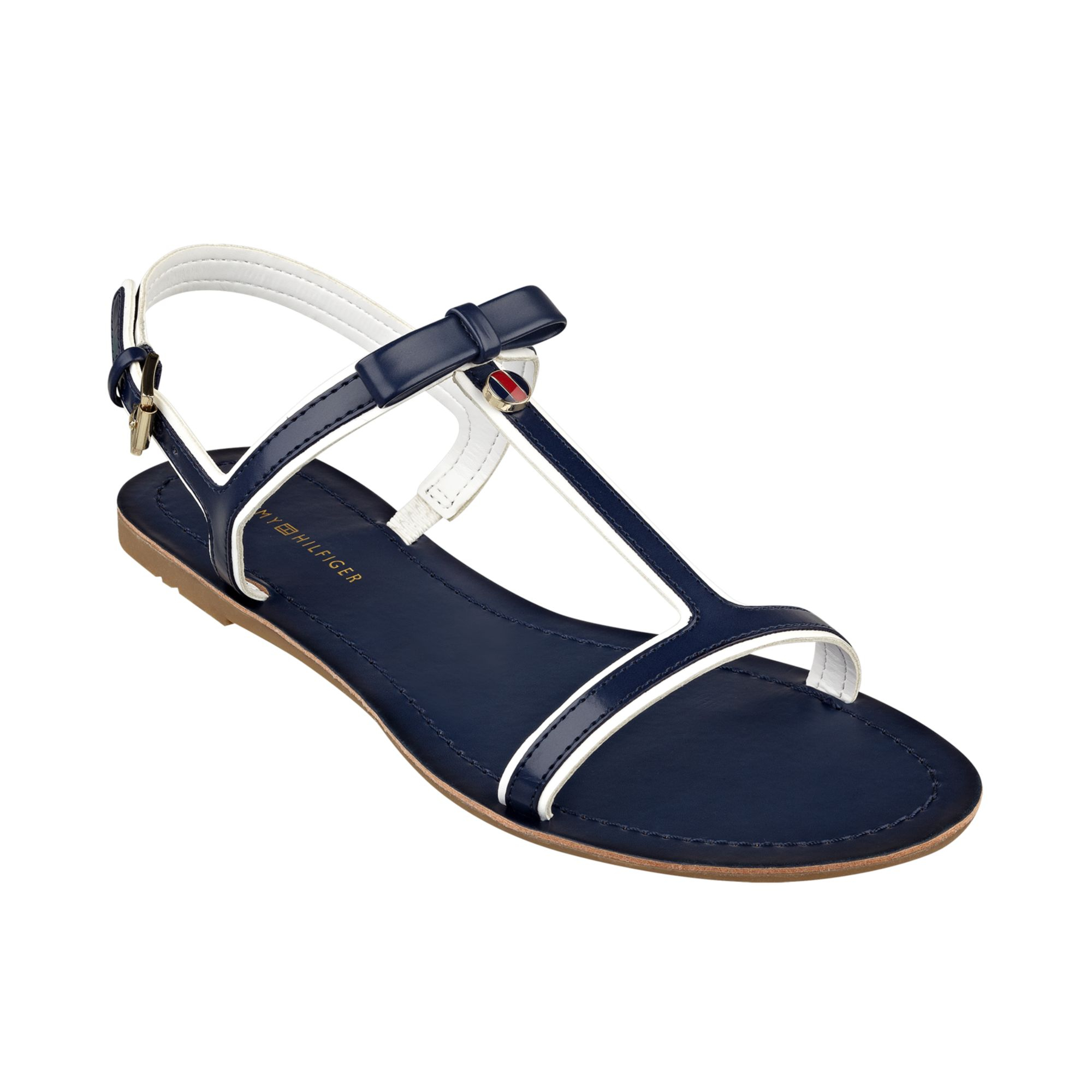 6dde8ce95 Tommy Hilfiger Womens Lisel Flat Sandals In Blue (Navy)
