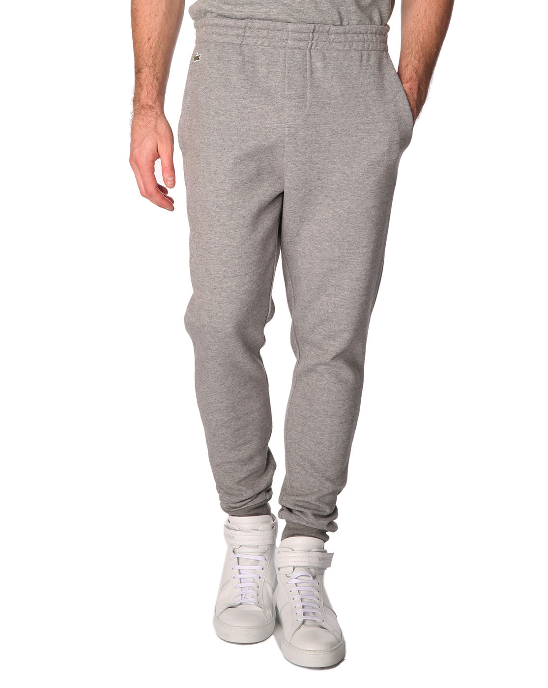 Lacoste Sport Marled Grey Jogging Trousers With Tight ...