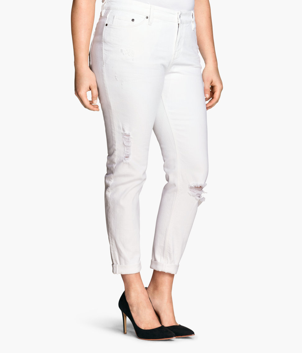 H&m   Girlfriend Jeans in White | Lyst