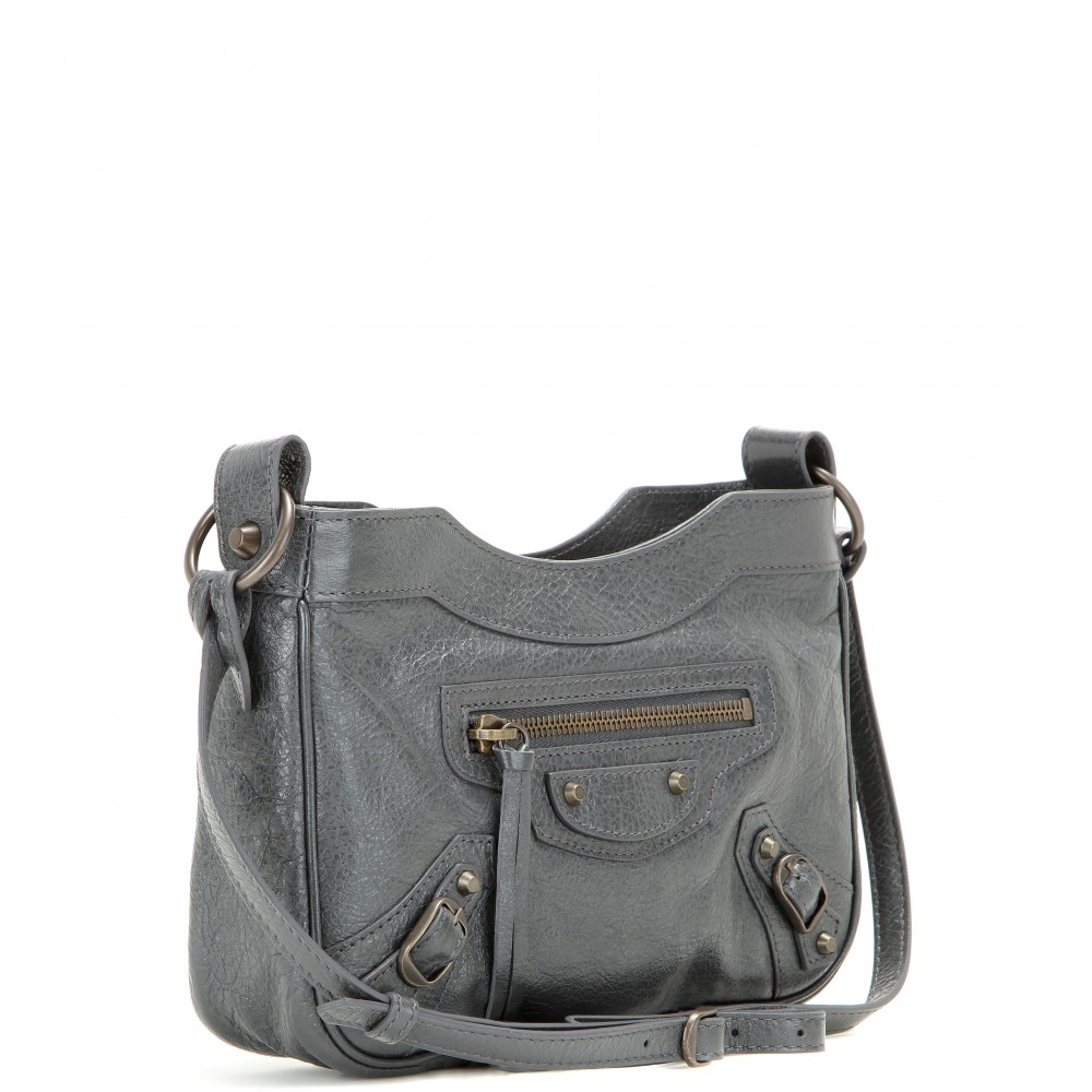 c59928edd5a1 Balenciaga Classic Hip Leather Shoulder Bag in Gray