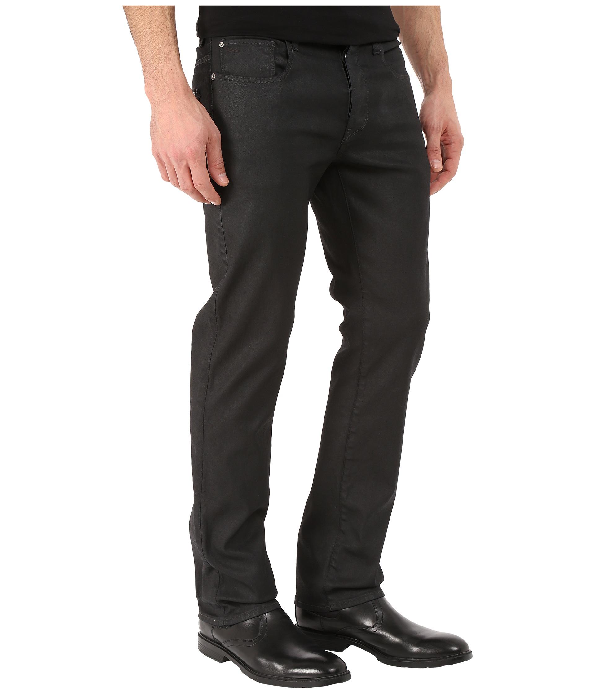 G-star Raw 3301 Straight In Black Pintt Stretch Denim 3d