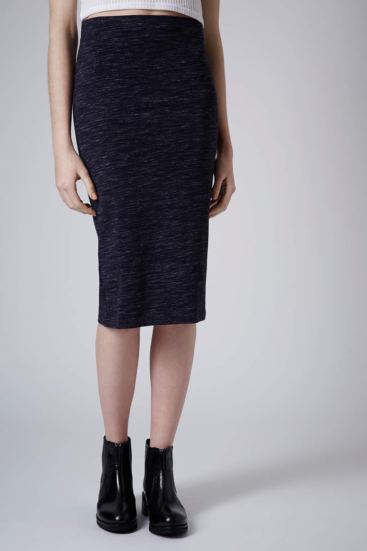 topshop space dye skirt in blue lyst