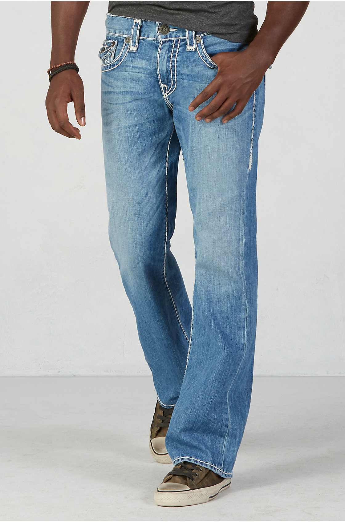 Mens Jeans With Back Pocket Flaps