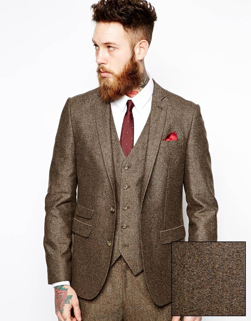 Brown Slim Fit Suit - Hardon Clothes