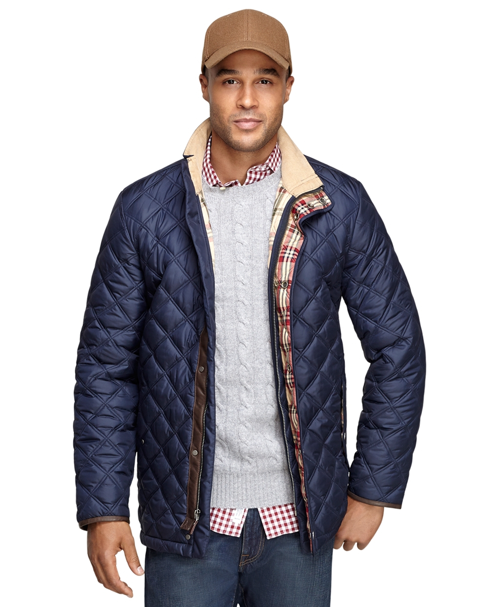 Brooks brothers Quilted Jacket in Blue for Men | Lyst