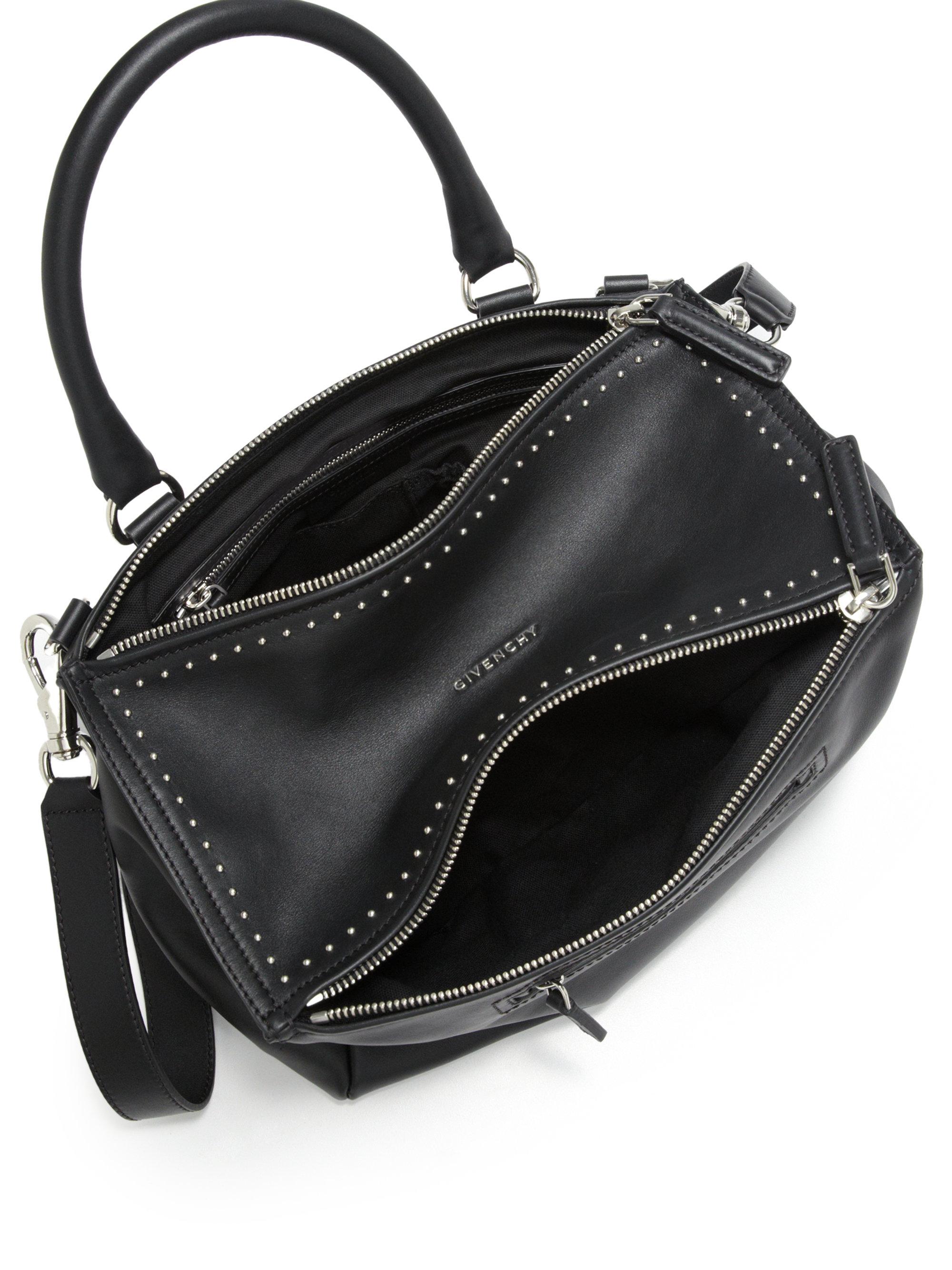 08e07d6425c Givenchy Pandora Medium Studded Leather Shoulder Bag in Black - Lyst