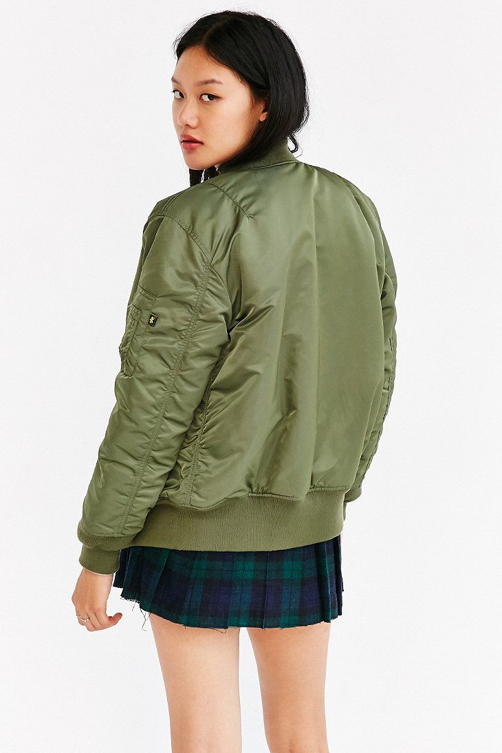 Lyst - Alpha Industries Ma-1 Bomber Jacket in Green c55613dac