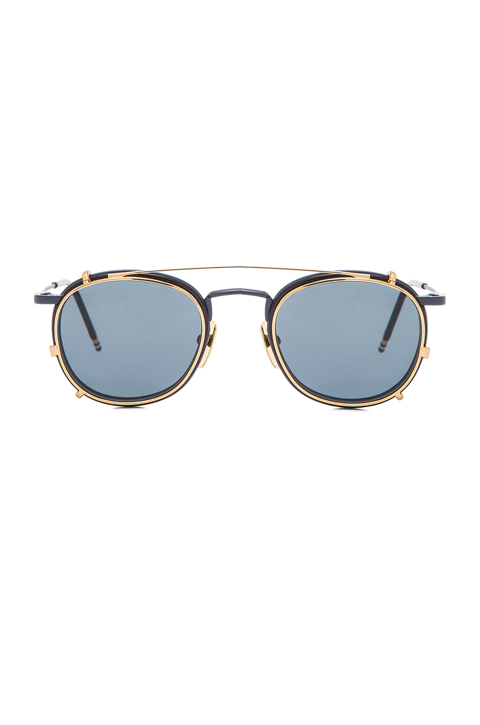 5f120038258 Lyst - Thom Browne Men S Clip On Sunglasses in Blue