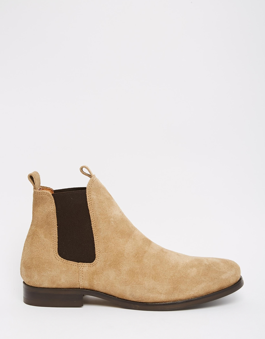 lyst selected melvin suede chelsea boots in brown for men. Black Bedroom Furniture Sets. Home Design Ideas