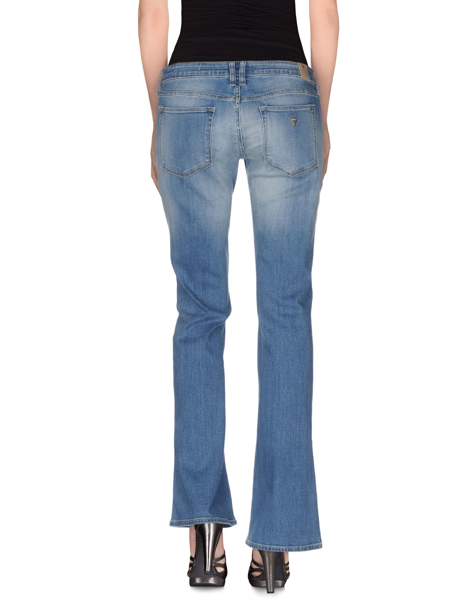 Cool Guess Denim Trousers In Gray  Lyst