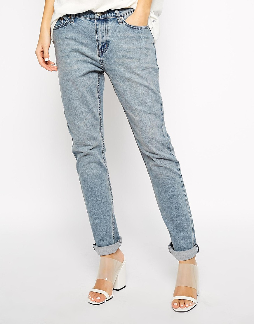 Cheap monday Thrift Boyfriend Jeans in Blue | Lyst