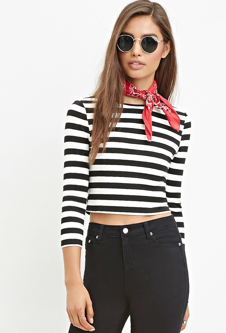 Shop the latest Black And White Striped Crop Top products from Liva Girl, onetop, Chelsey Shop, DCCK and more on Wanelo, the world's biggest shopping mall.
