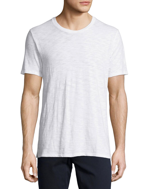 Lyst vince slub crewneck t shirt in white for men for What is a slub shirt