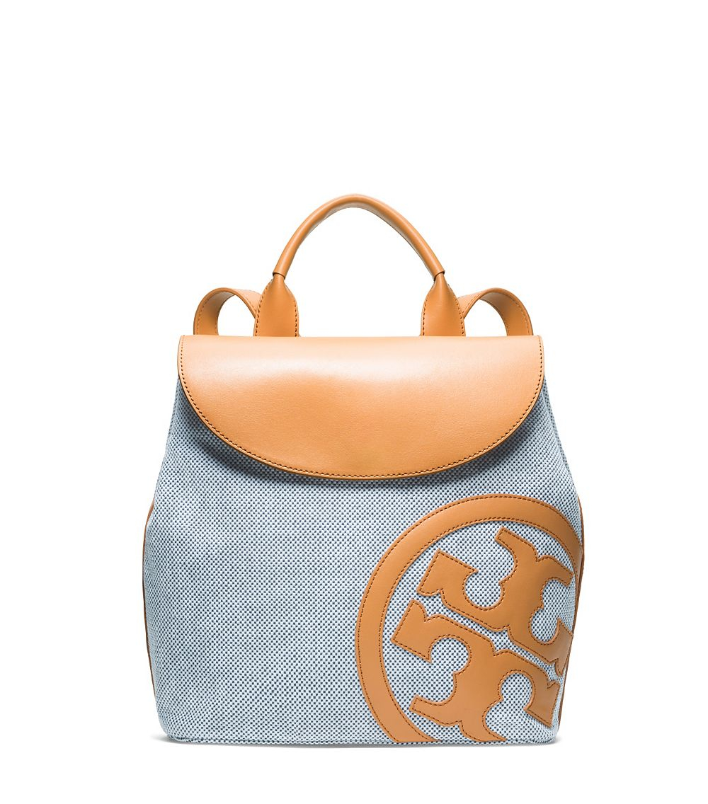 Tory Burch Lonnie Canvas Backpack In Blue