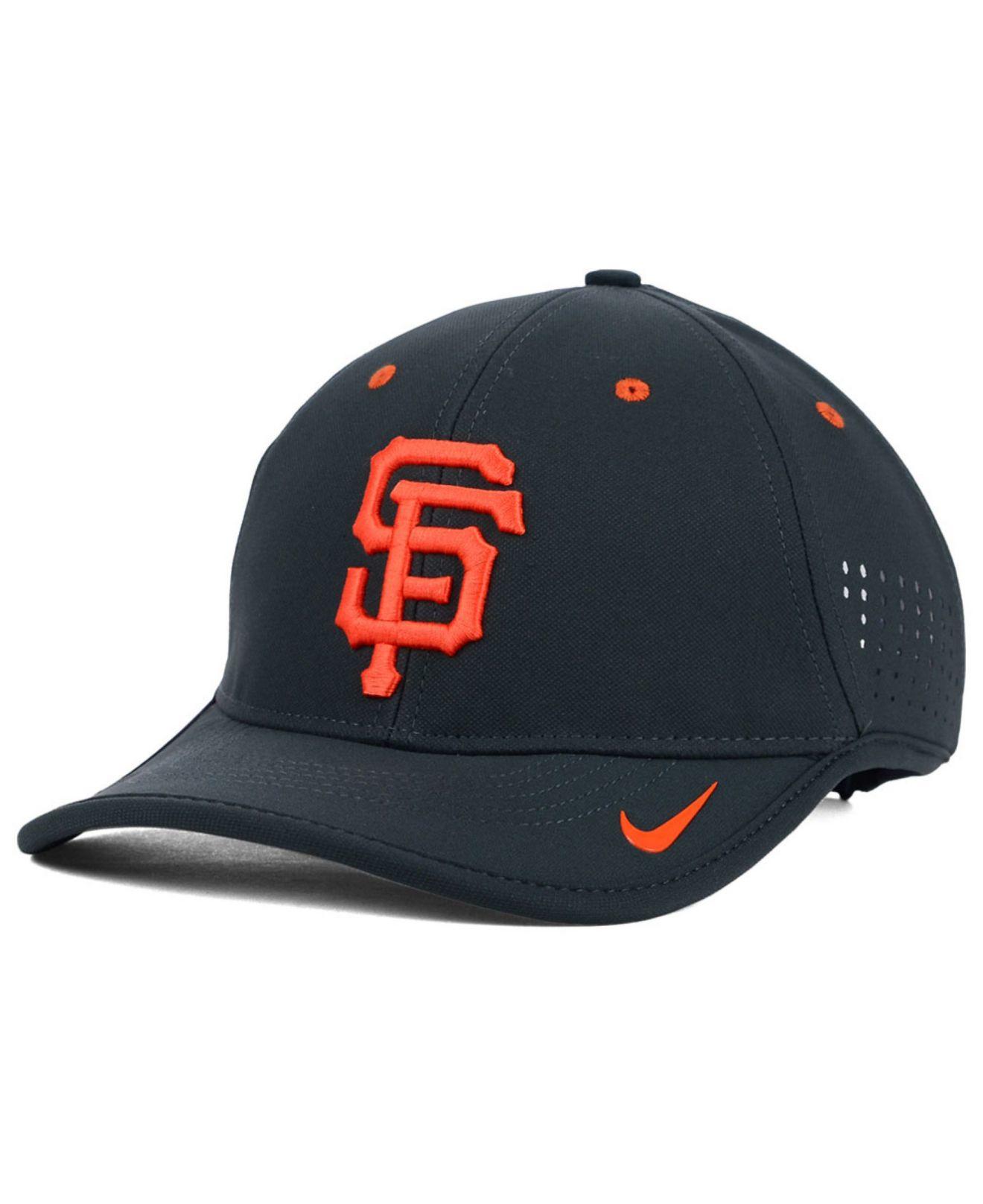 premium selection 3d07d c1c4e Nike San Francisco Giants Vapor Swoosh Adjustable Cap in Gray for ...