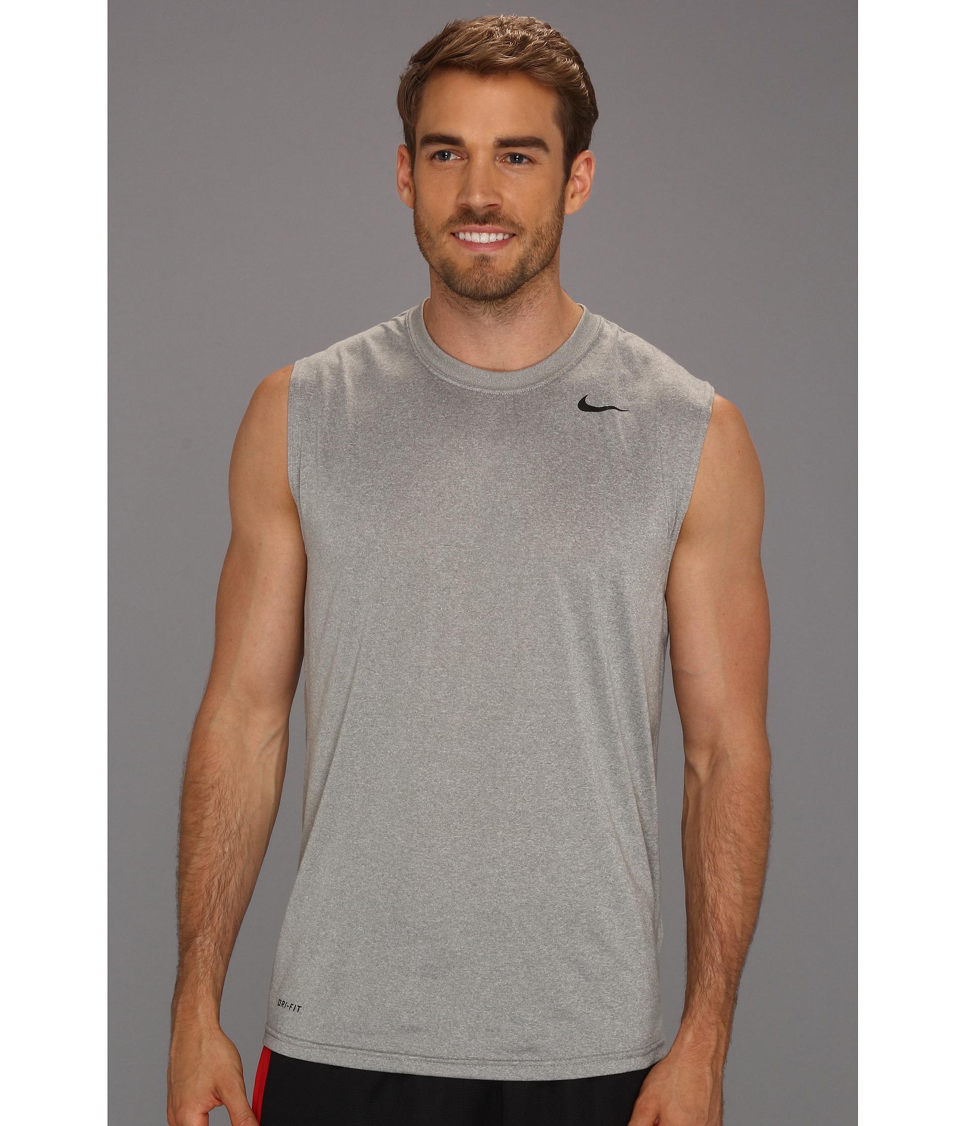 42c4a28d Nike Dri-Fit™ Legend Sleeveless Training Shirt in Gray for Men - Lyst