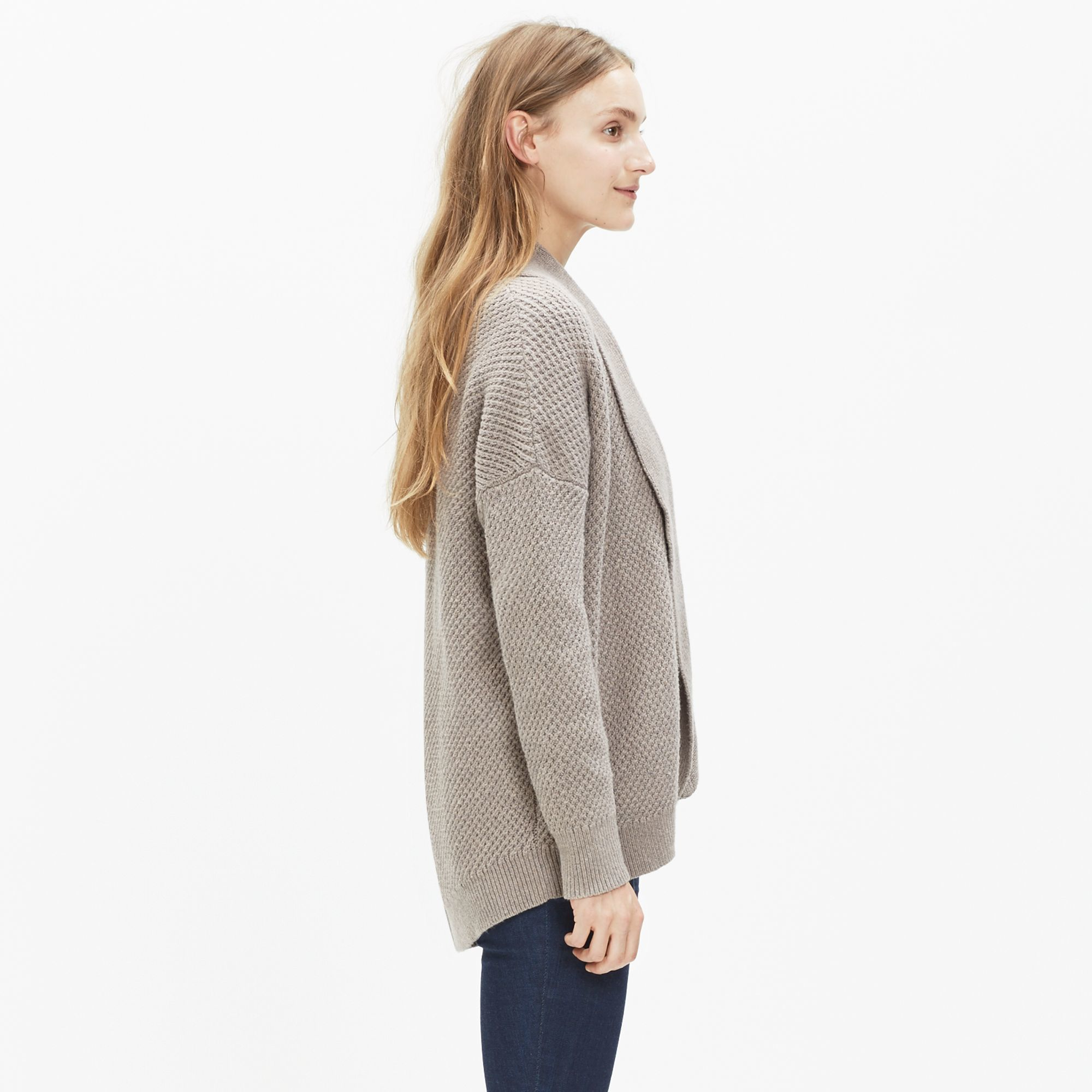 Madewell Cocoon Cardigan Sweater in Natural | Lyst