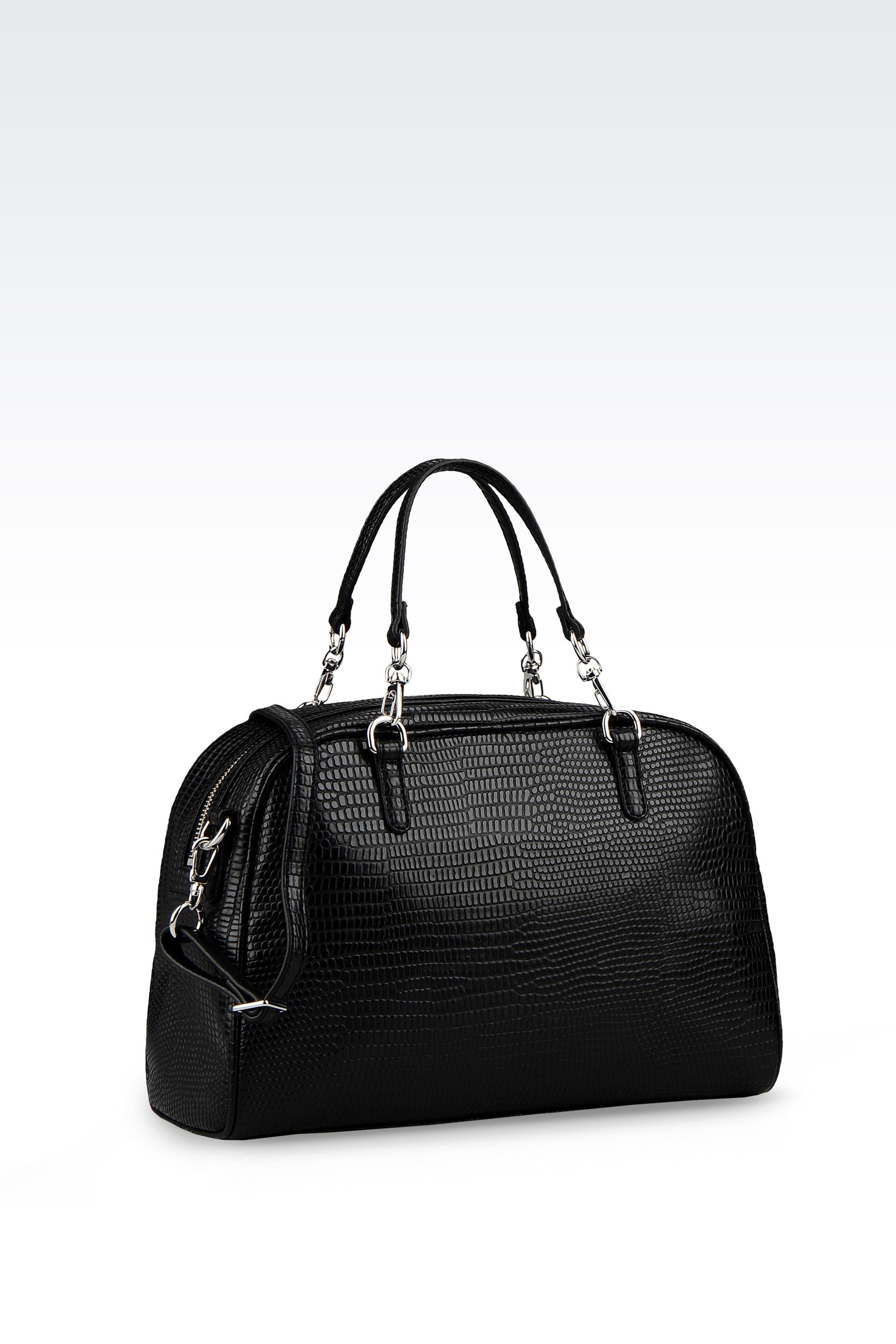 Armani Jeans Bowling Bag in Printed Faux Leather with Jewel Detail ... 8022a282893b6
