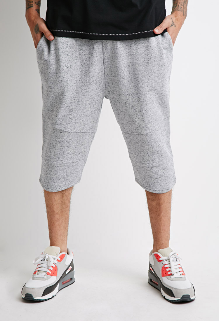 Forever 21 Marled Knee-length Shorts in Gray for Men | Lyst