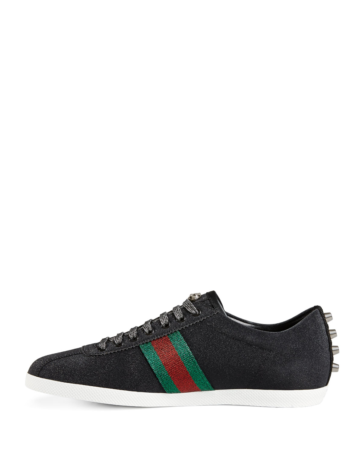 92eca86882e61 Lyst - Gucci Bambi Web Low-top Sneaker With Stud Detail in Black for Men
