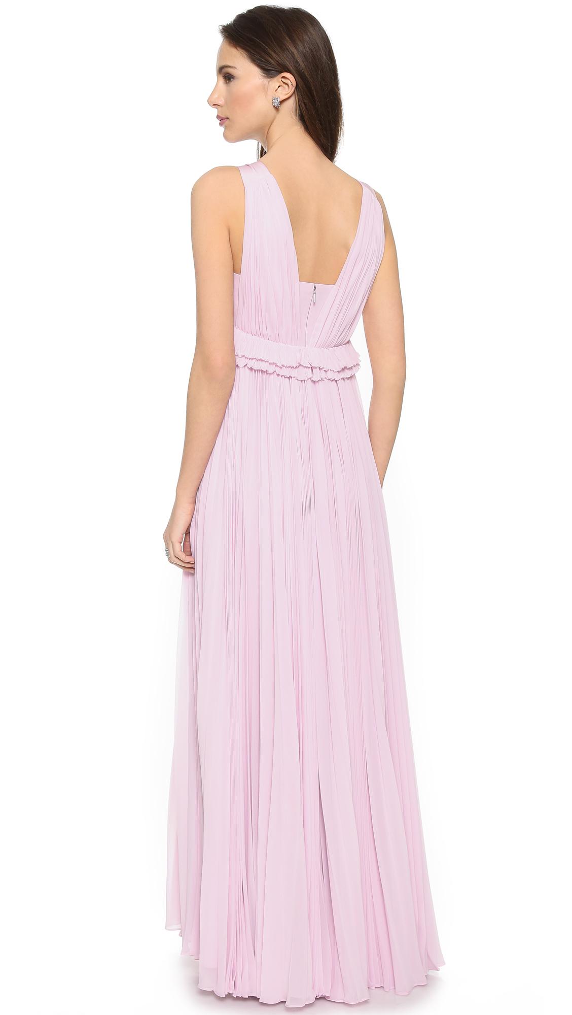 Lyst - Rebecca Taylor Chiffon Pleat Gown - Lilac in Purple