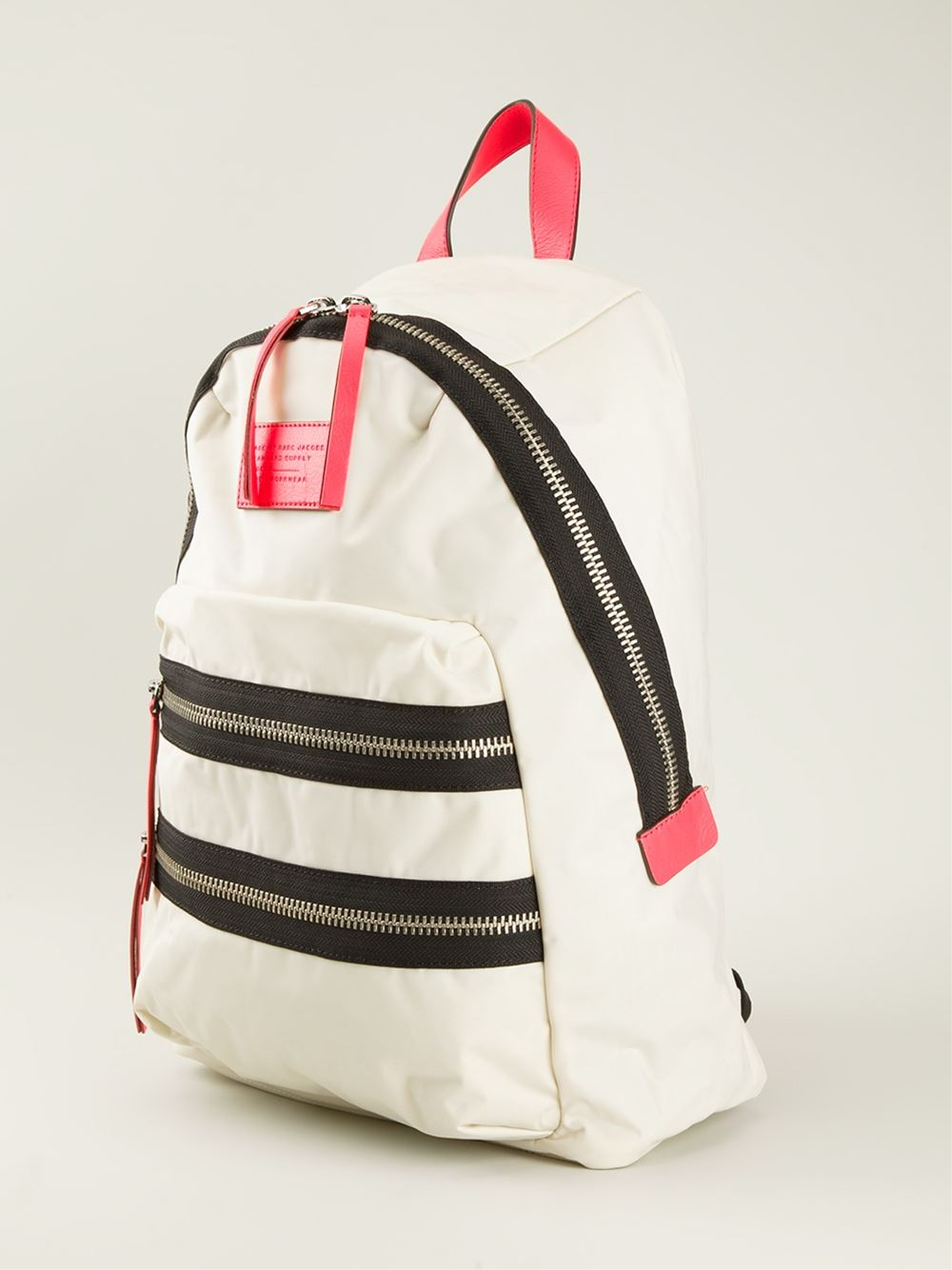 marc by marc jacobs domo arigato backpack in white lyst. Black Bedroom Furniture Sets. Home Design Ideas