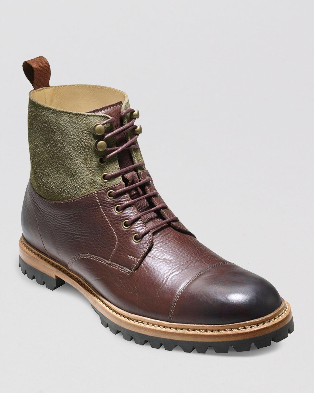 Cole Haan Judson Cap Toe Boots In Green For Men