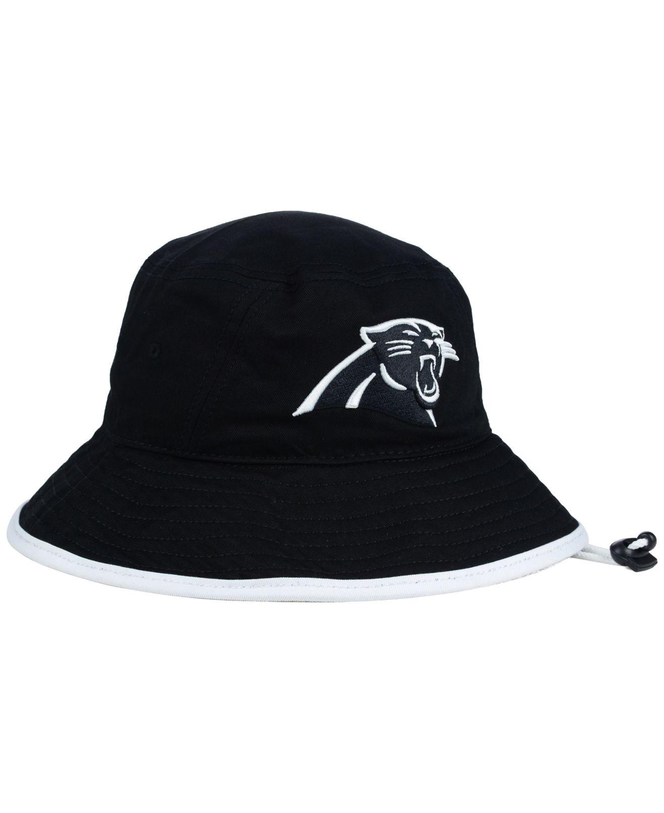 Lyst - KTZ Carolina Panthers Nfl Black White Bucket Hat in Black e70edcc70