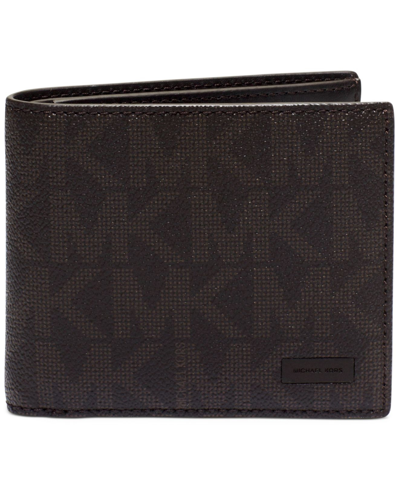 7553e993db4a Lyst - Michael Kors Jet Set Shadow Signature Billfold Wallet in ...