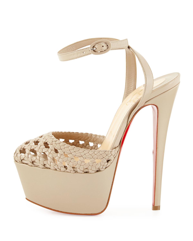 Christian Louboutin Woven Wraparound Sandals best for sale exclusive sale online clearance get authentic U5ekxodz2u