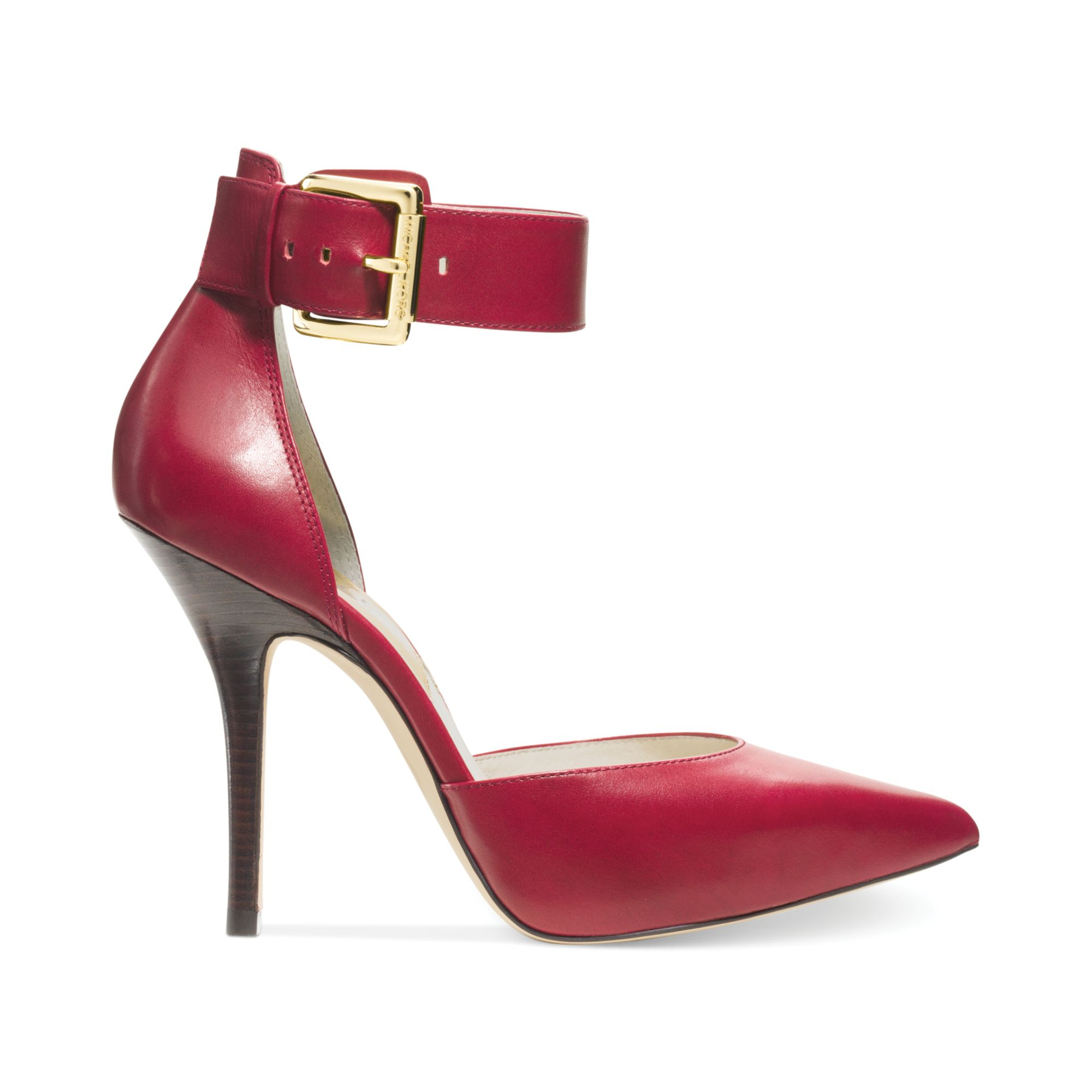 Lyst Michael Kors Michael Brinkley Ankle Strap Pumps In Red
