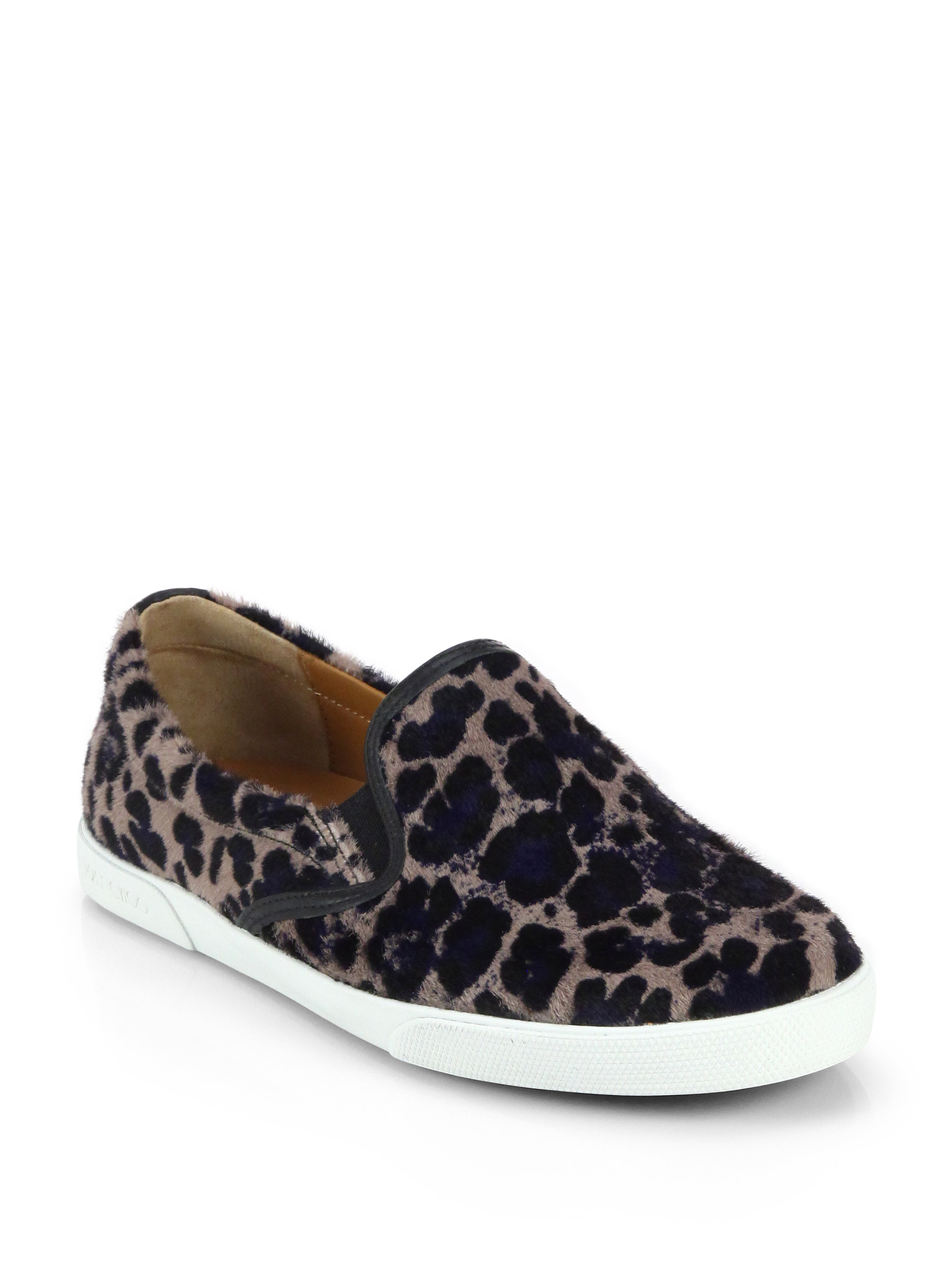 jimmy choo demi leopard print calf hair sneakers lyst. Black Bedroom Furniture Sets. Home Design Ideas