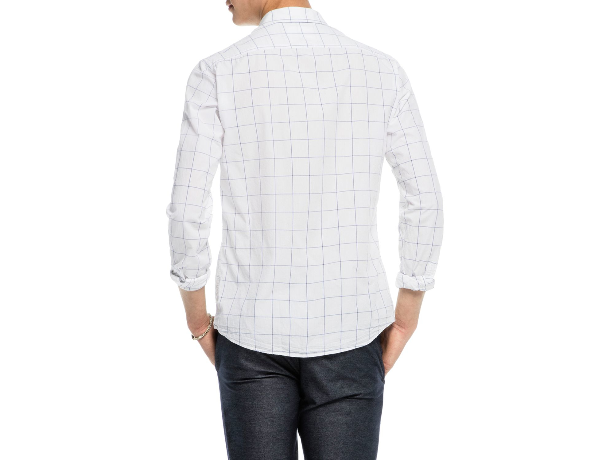 lyst scotch soda windowpane slim fit button down shirt