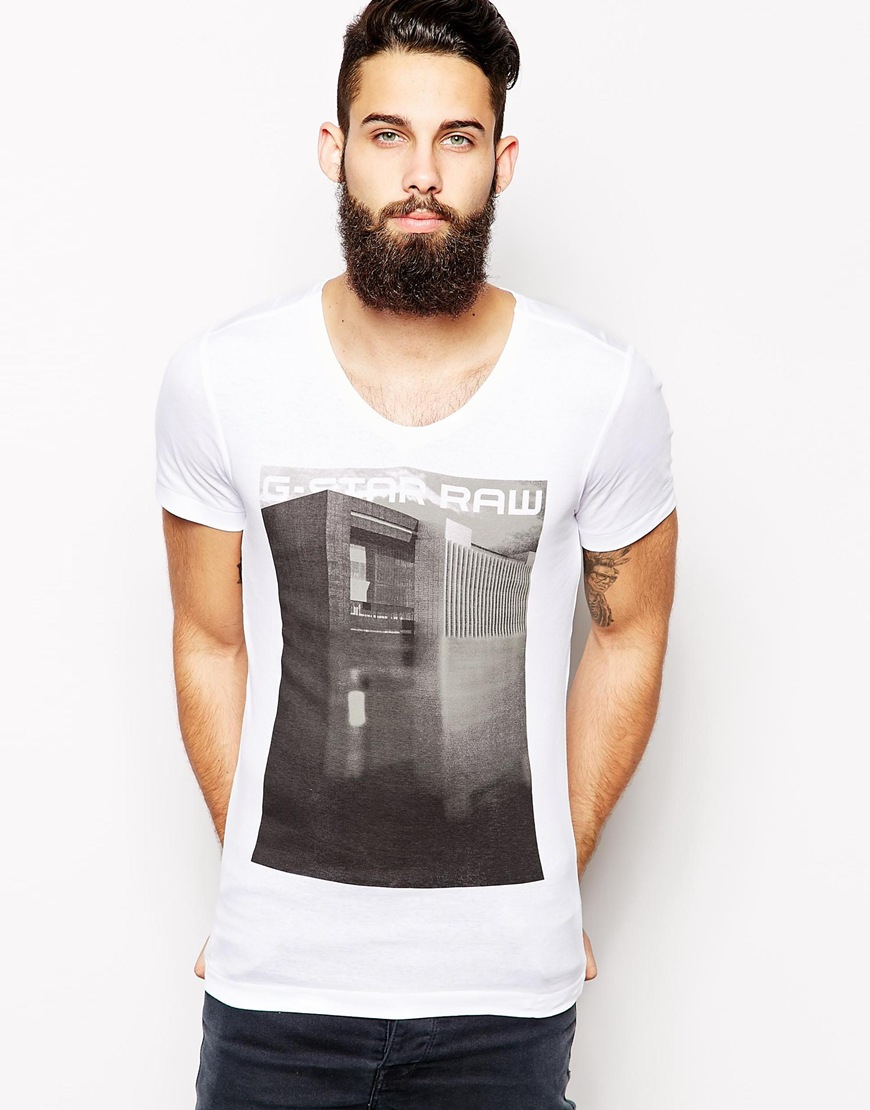 g star raw g star v neck t shirt termdal slim fit photo. Black Bedroom Furniture Sets. Home Design Ideas