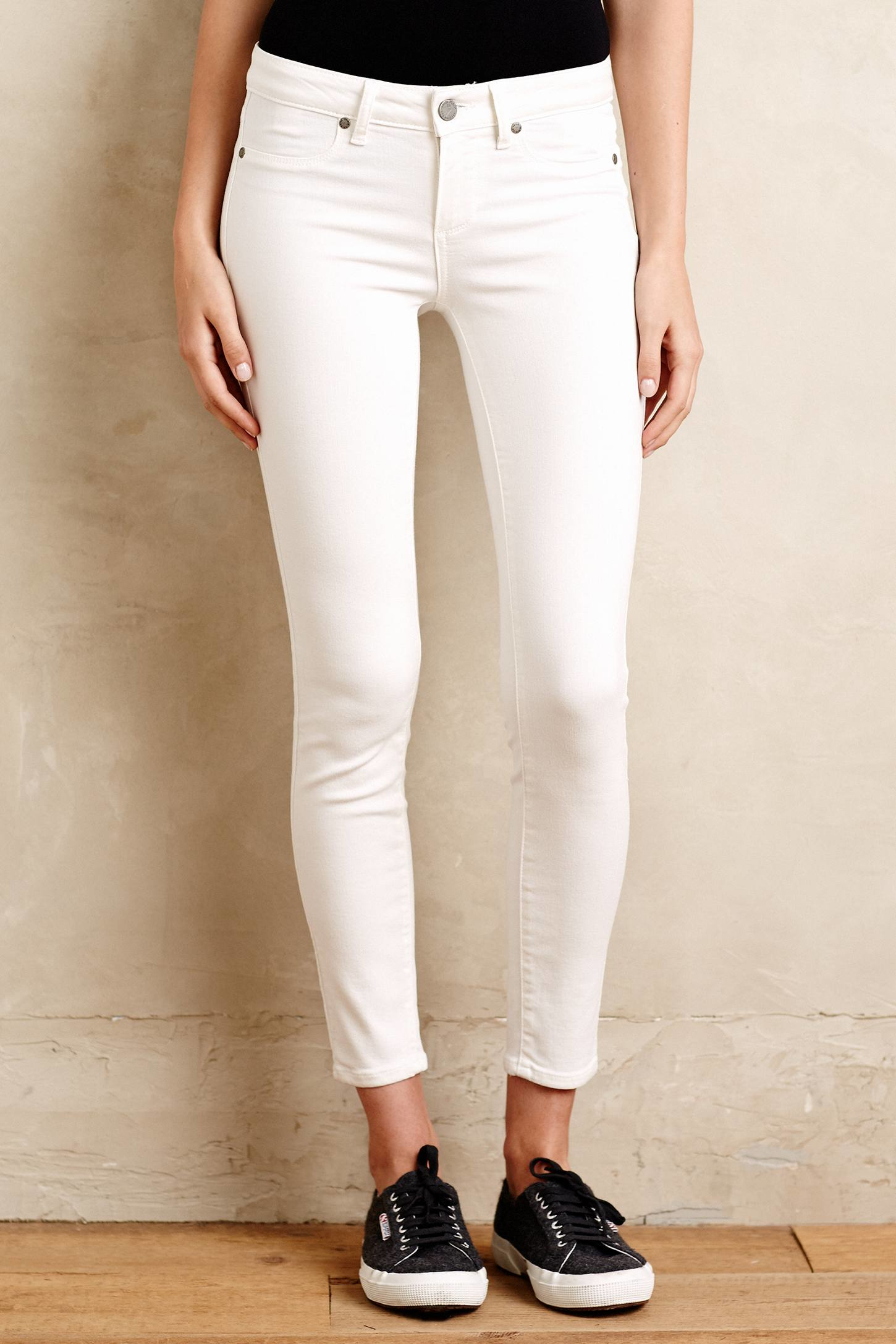 Paige Verdugo Ankle Jeans in White | Lyst