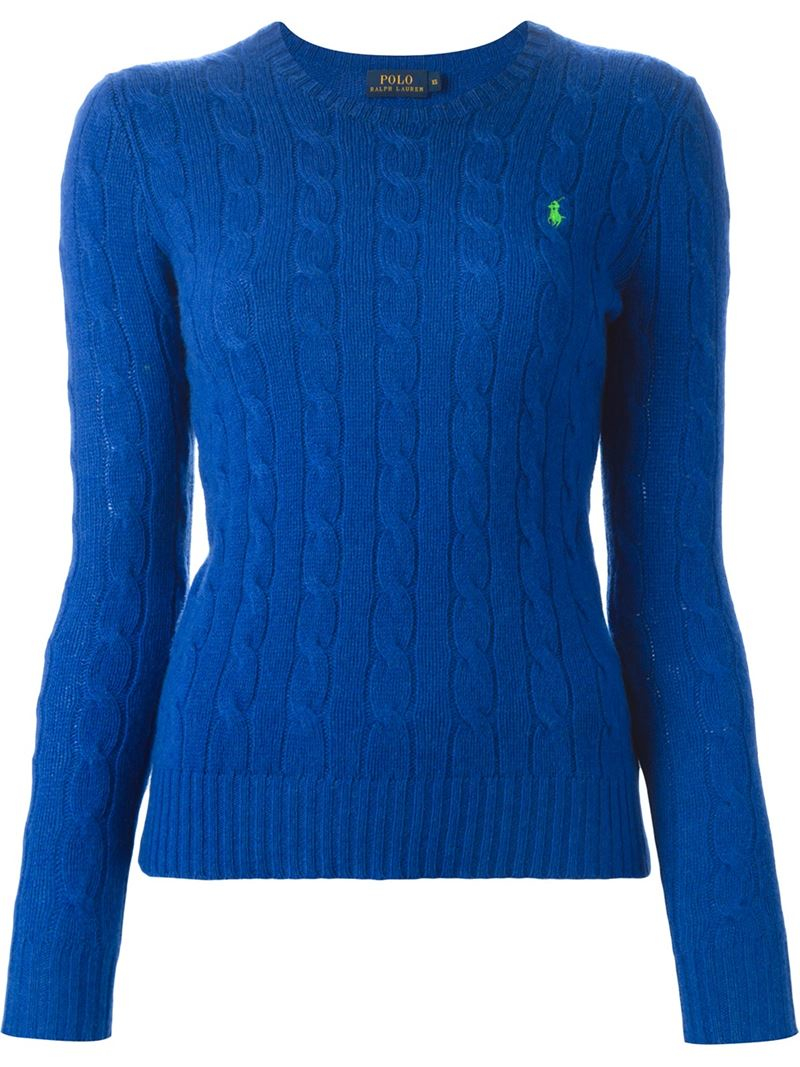Lyst Polo Ralph Lauren Julianna Sweater In Blue