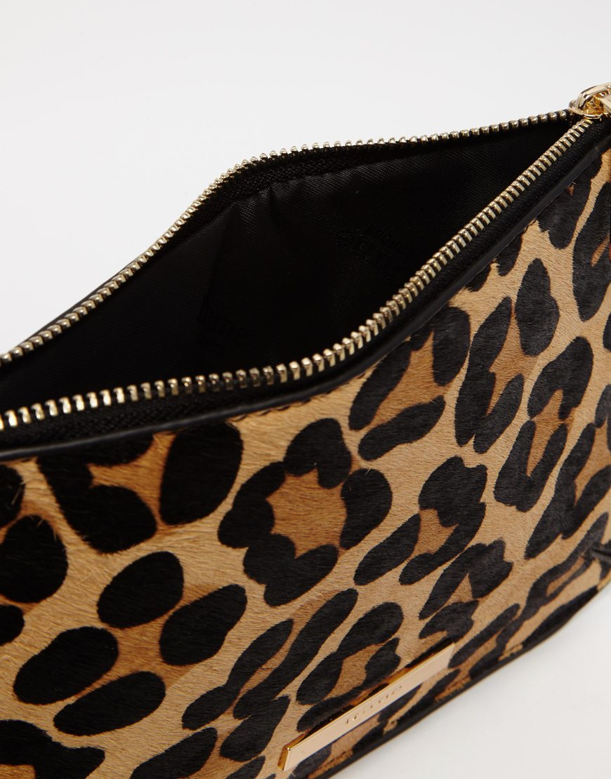 Dune Sadie Double Pouch Set In Leopard Print Lyst