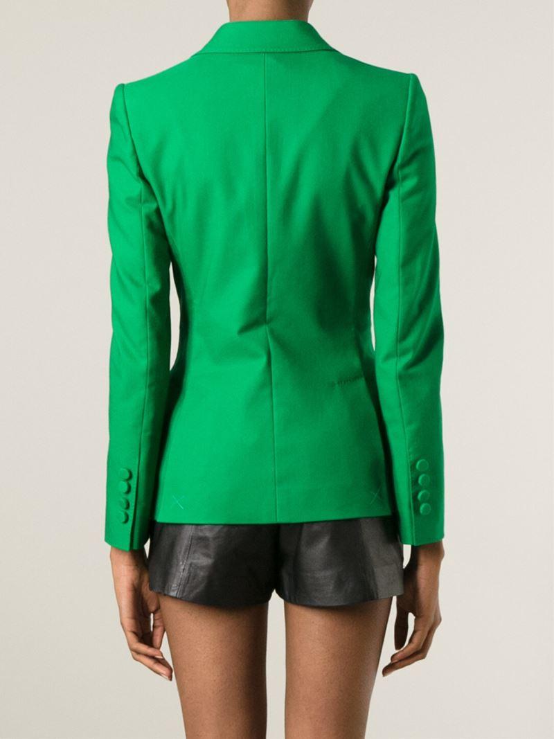 Dolce & gabbana Fitted Blazer in Green | Lyst