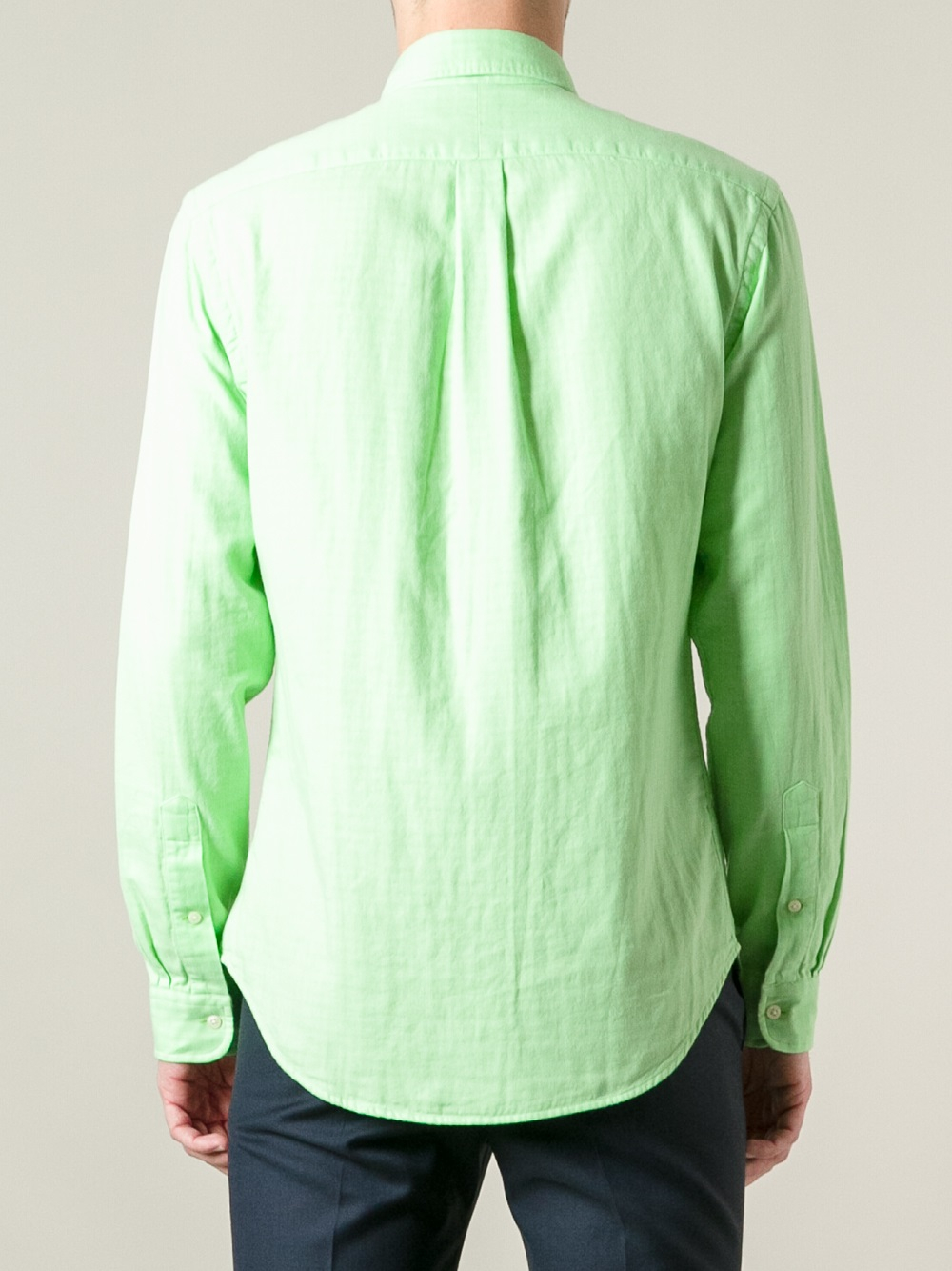 Polo ralph lauren button down shirt in green for men lyst for Polo ralph lauren casual button down shirts