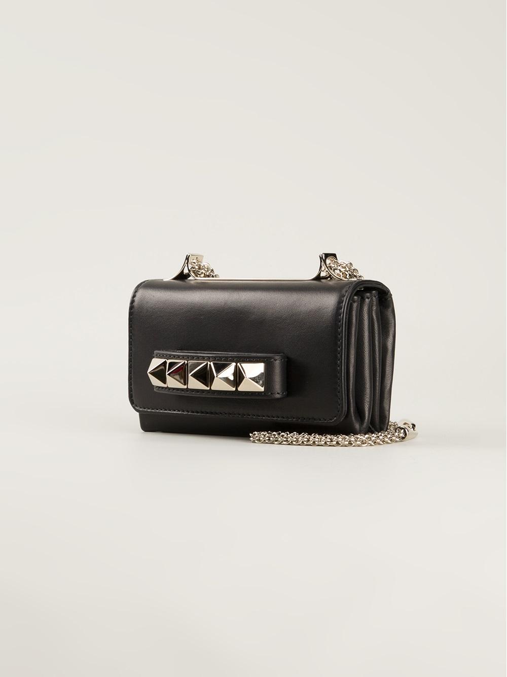 6c9cc35ee1e Valentino Va Va Voom Mini Shoulder Bag in Black - Lyst