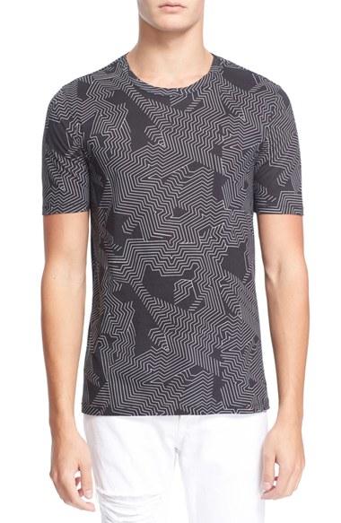 lyst helmut lang 39 labyrinth 39 print t shirt in black for men. Black Bedroom Furniture Sets. Home Design Ideas