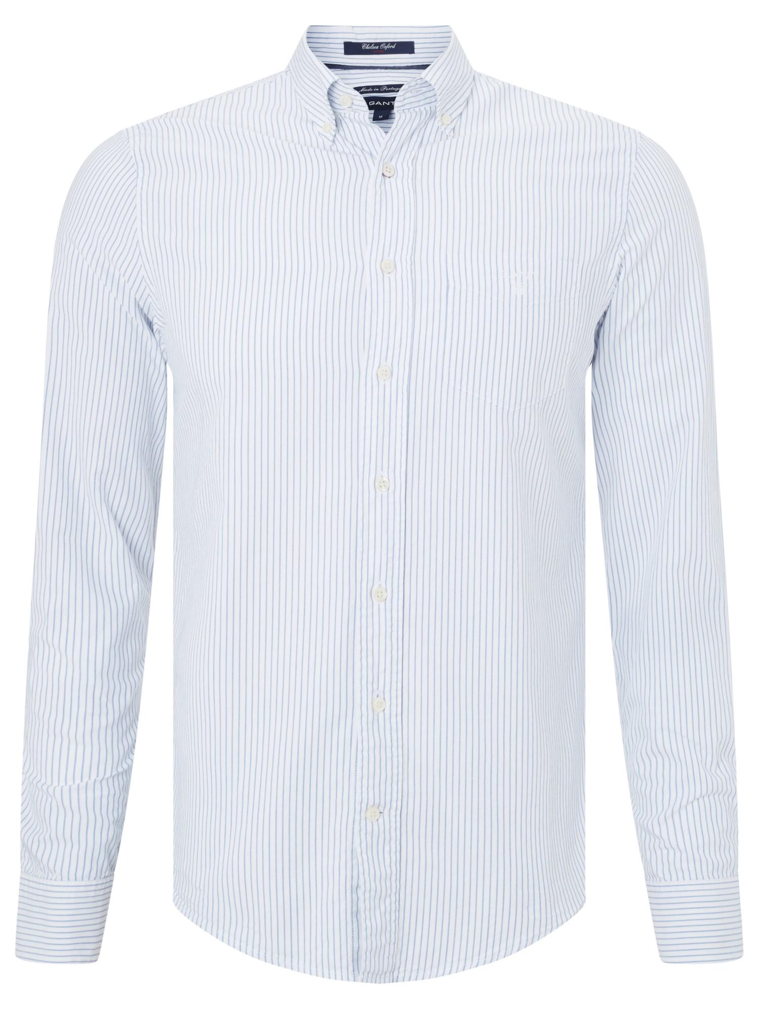 Gant White Chelsea Fine Stripe Oxford Shirt For Men Lyst