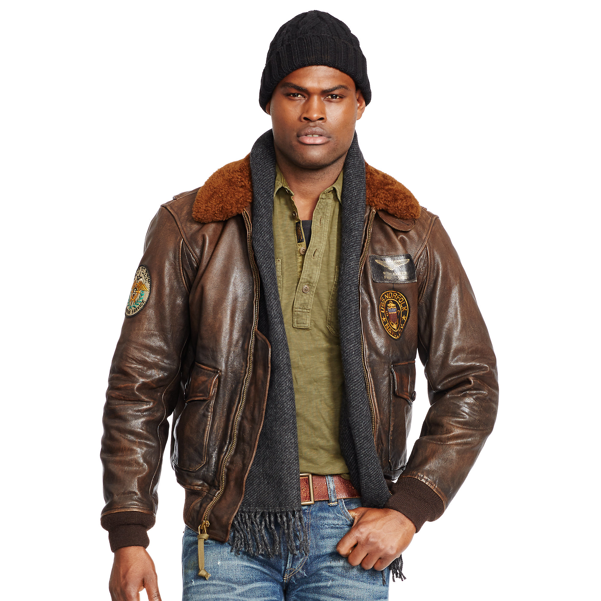 ralph lauren leather bomber jackets for women jackets in. Black Bedroom Furniture Sets. Home Design Ideas