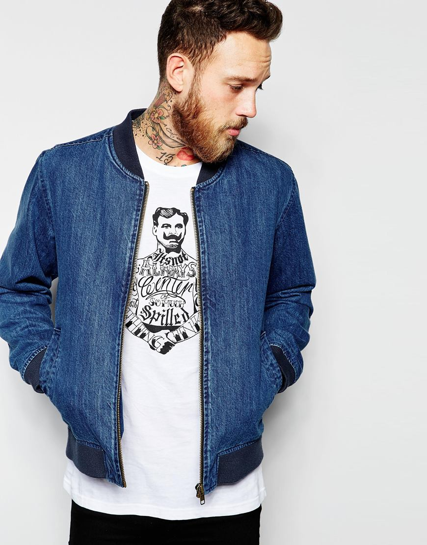 Dr. denim Blaze Bomber Jacket in Blue for Men | Lyst