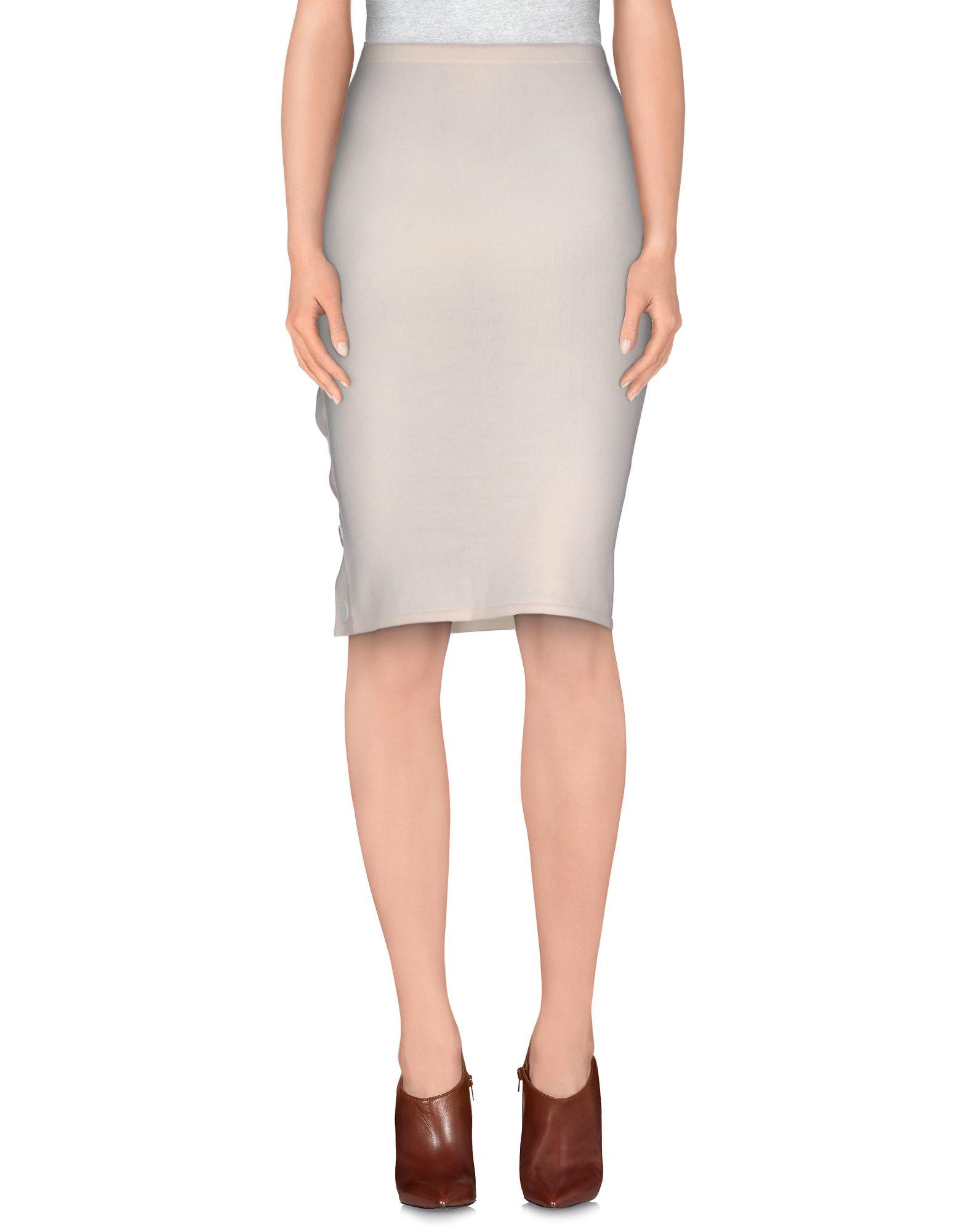 beayukmui knee length skirt in white lyst