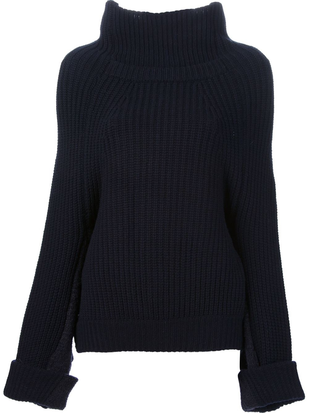 Toga pulla Oversize Turtleneck Sweater in Blue | Lyst